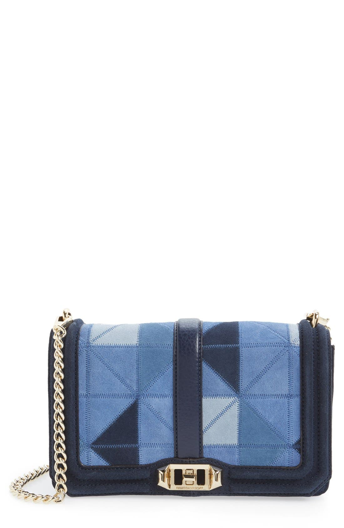Alternate Image 1 Selected - Rebecca Minkoff 'Love' Patchwork Leather Crossbody Bag