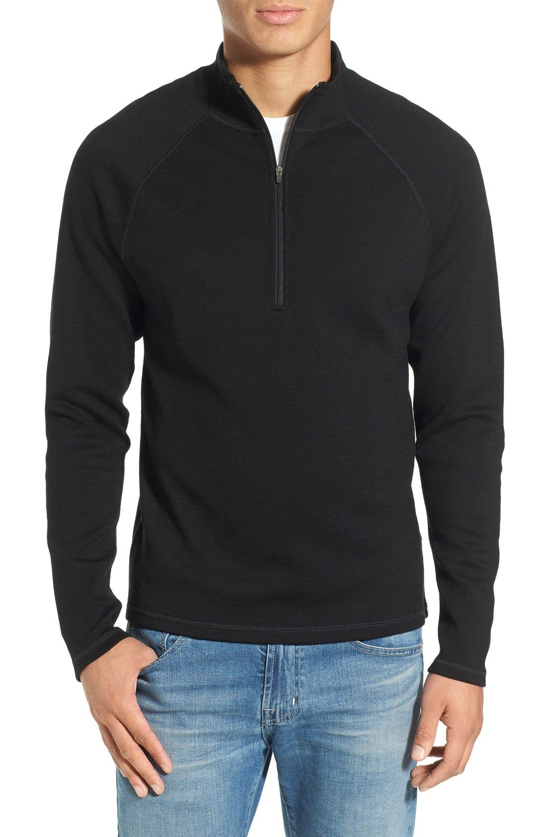 IBEX 'Shak' Merino Wool Quarter Zip Top