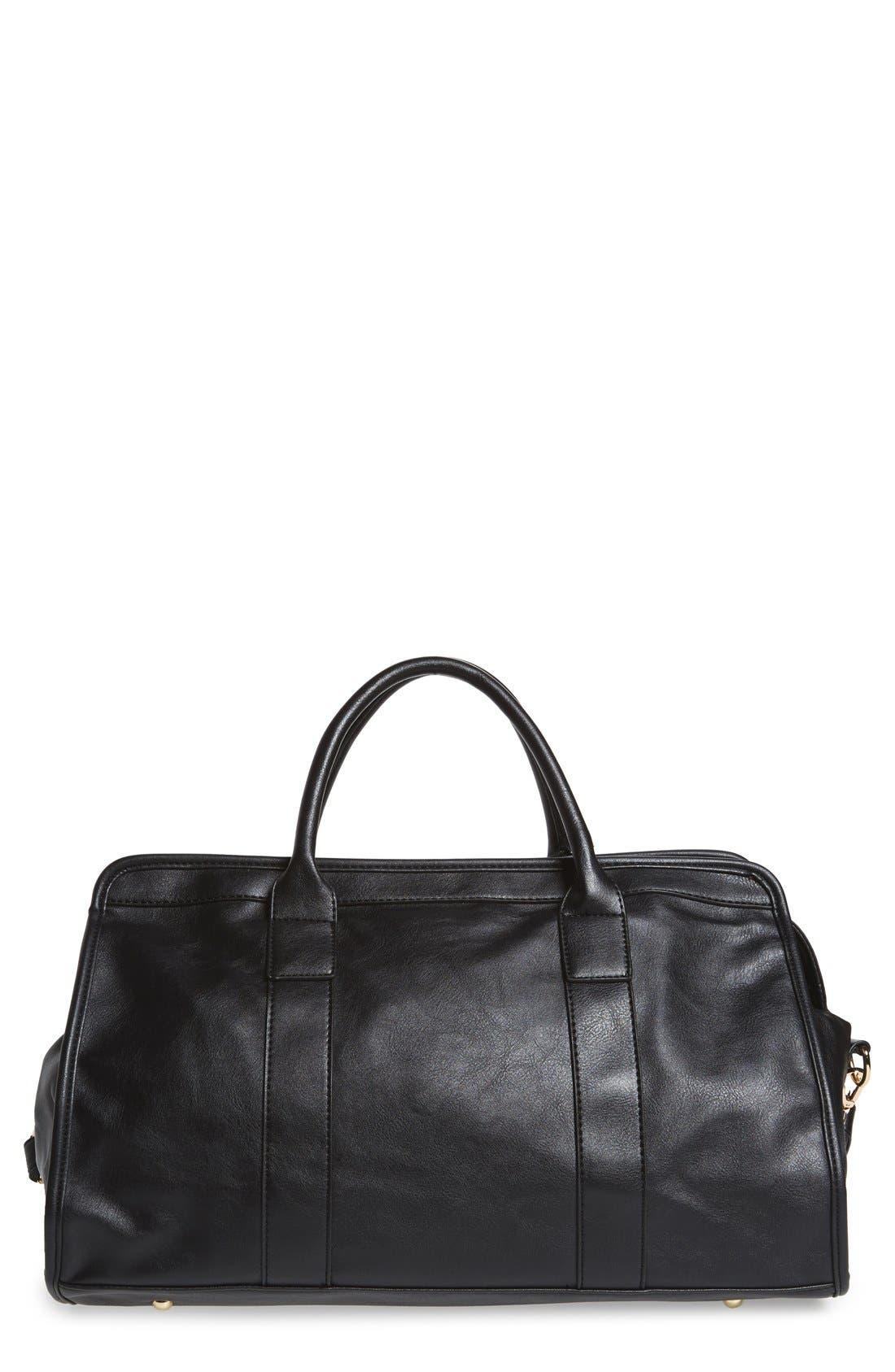 Alternate Image 1 Selected - NU-G Faux Leather Overnighter Bag