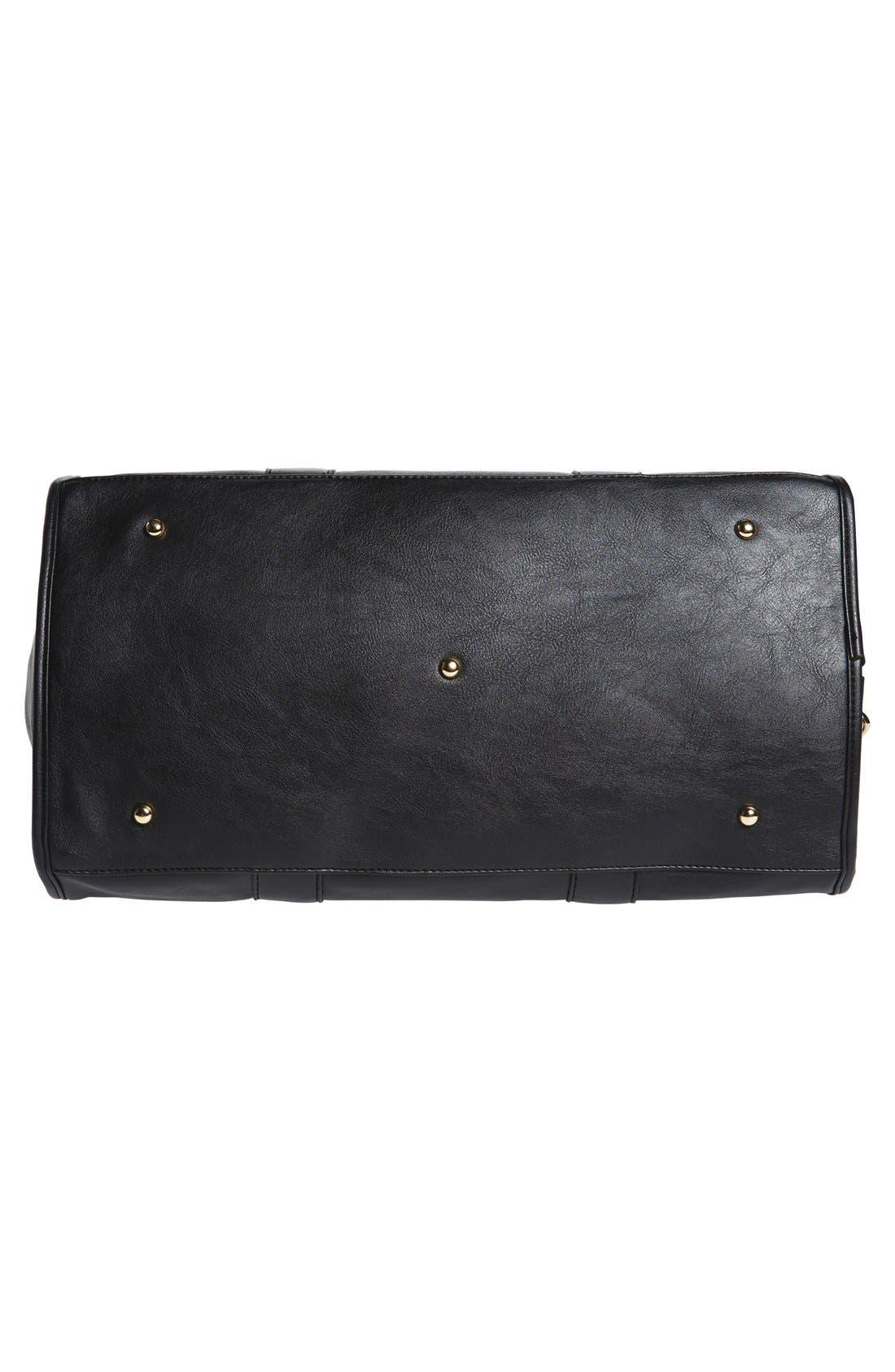 Alternate Image 6  - NU-G Faux Leather Overnighter Bag