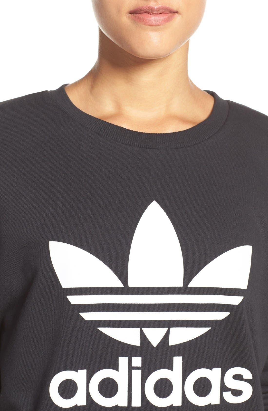 Alternate Image 4  - adidas Originals Trefoil Crewneck Sweatshirt