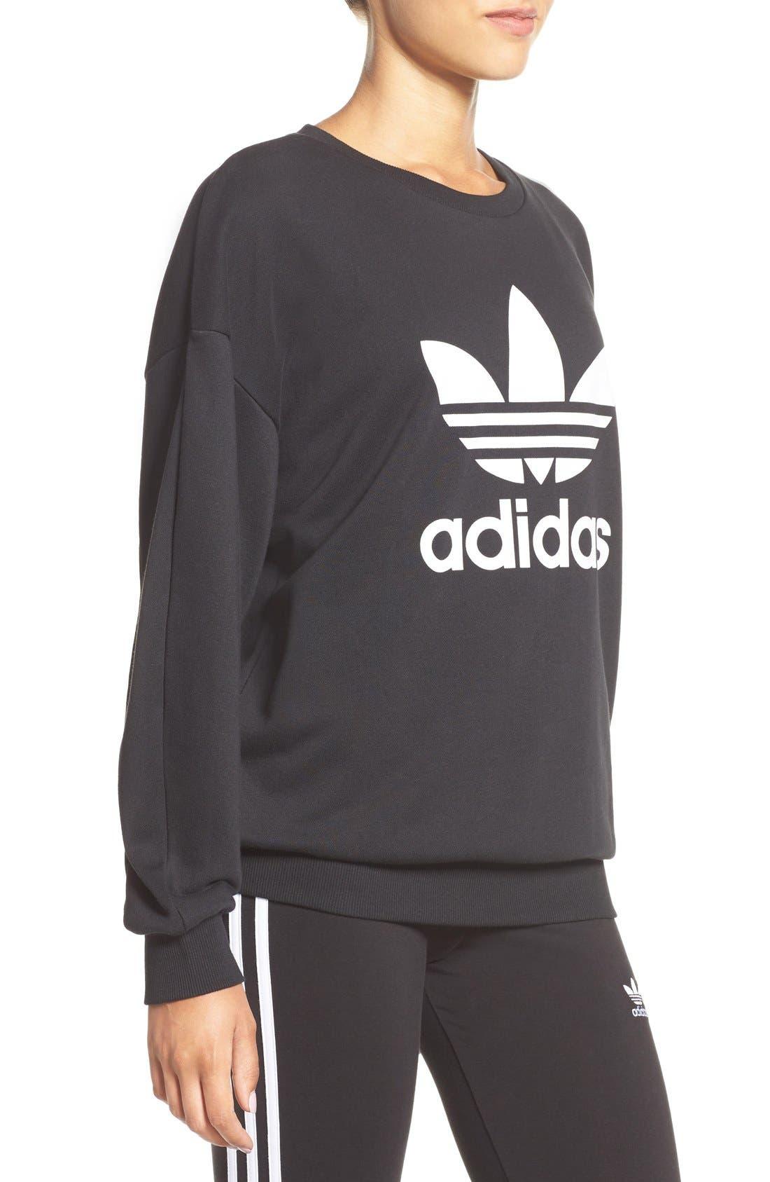 Alternate Image 3  - adidas Originals Trefoil Crewneck Sweatshirt