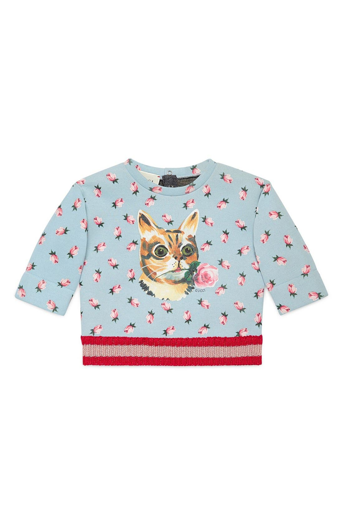 GUCCI Cat Print Sweatshirt