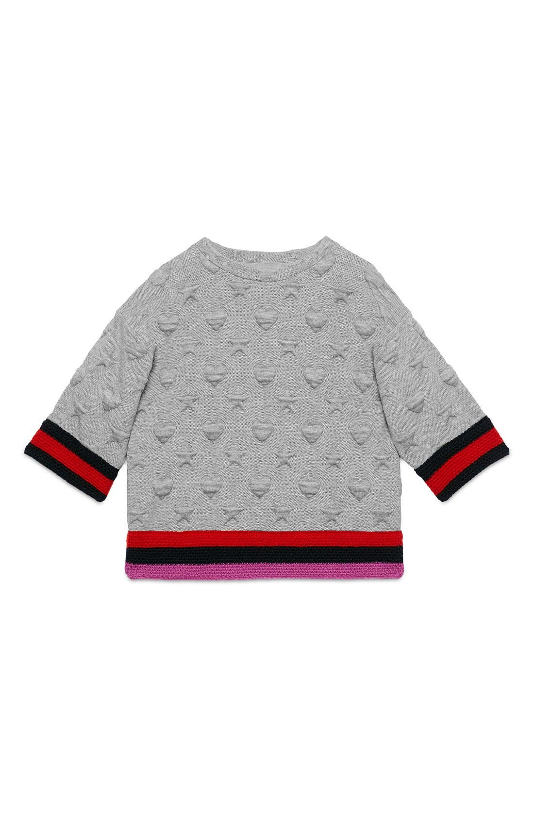 GUCCI Hearts & Stars Quilted Sweatshirt
