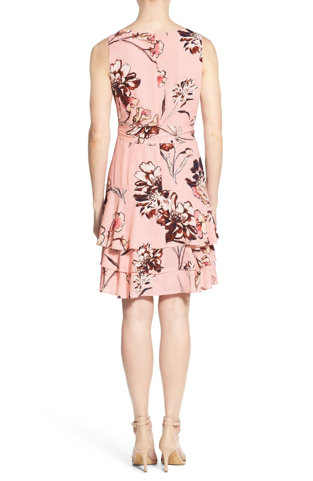 Alternate Image 2  - Ivanka Trump Floral Print Tiered A-Line Dress