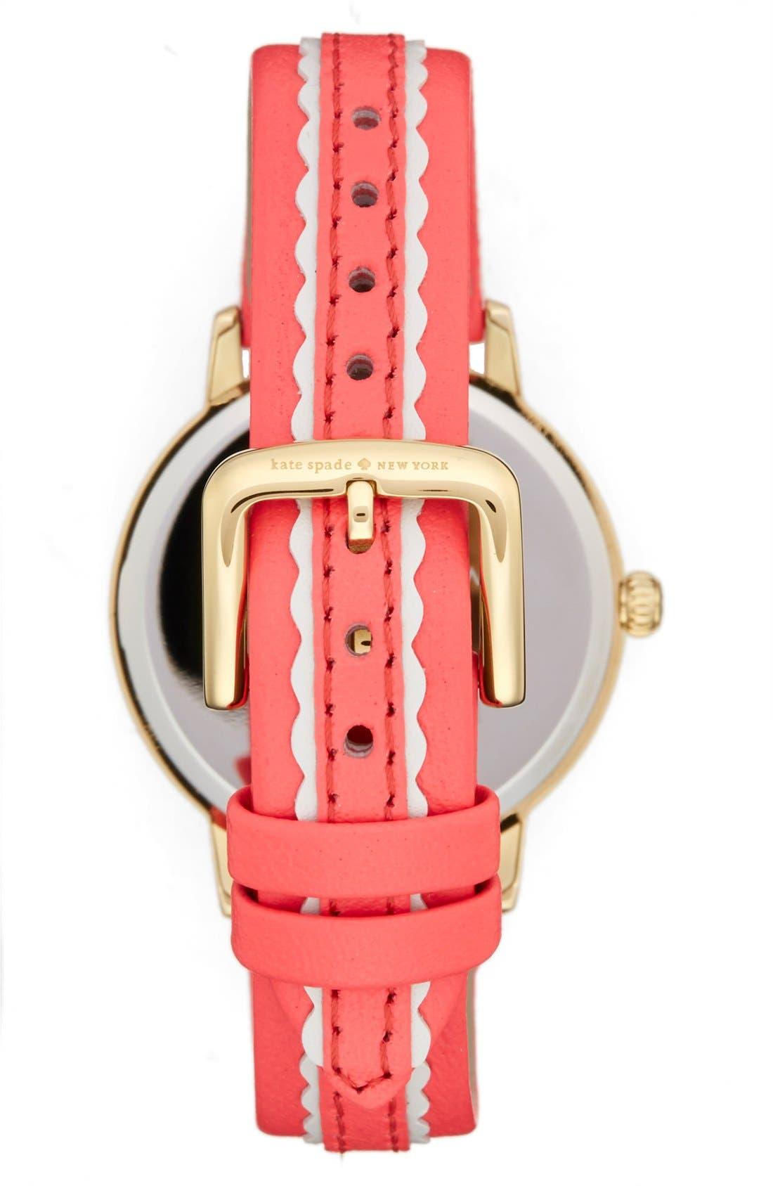 Alternate Image 2  - kate spade new york 'metro' leather strap watch, 34mm