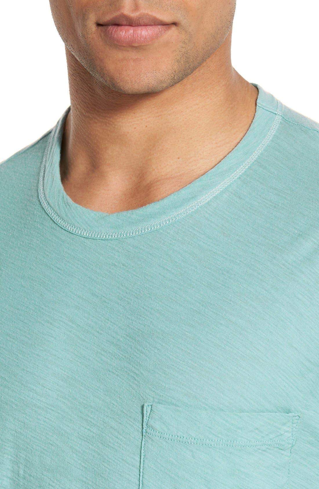 Alternate Image 4  - James Perse Classic Slub Crewneck Pocket T-Shirt