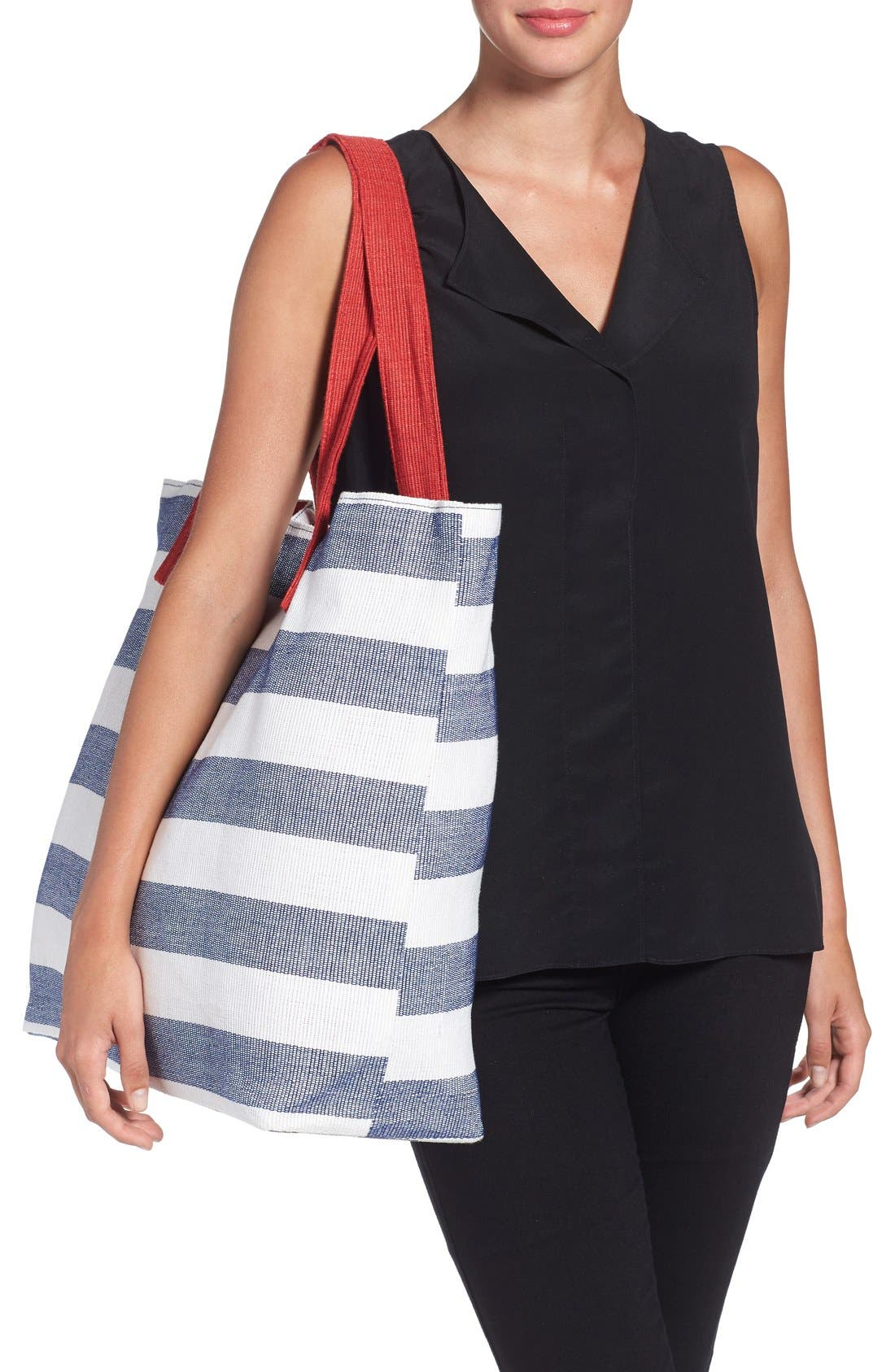 Alternate Image 2  - BP. Stripe Canvas Tote