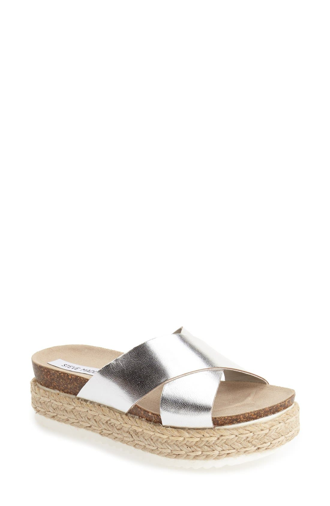 Alternate Image 1 Selected - Steve Madden 'Arran' Espadrille Platform Sandal (Women)