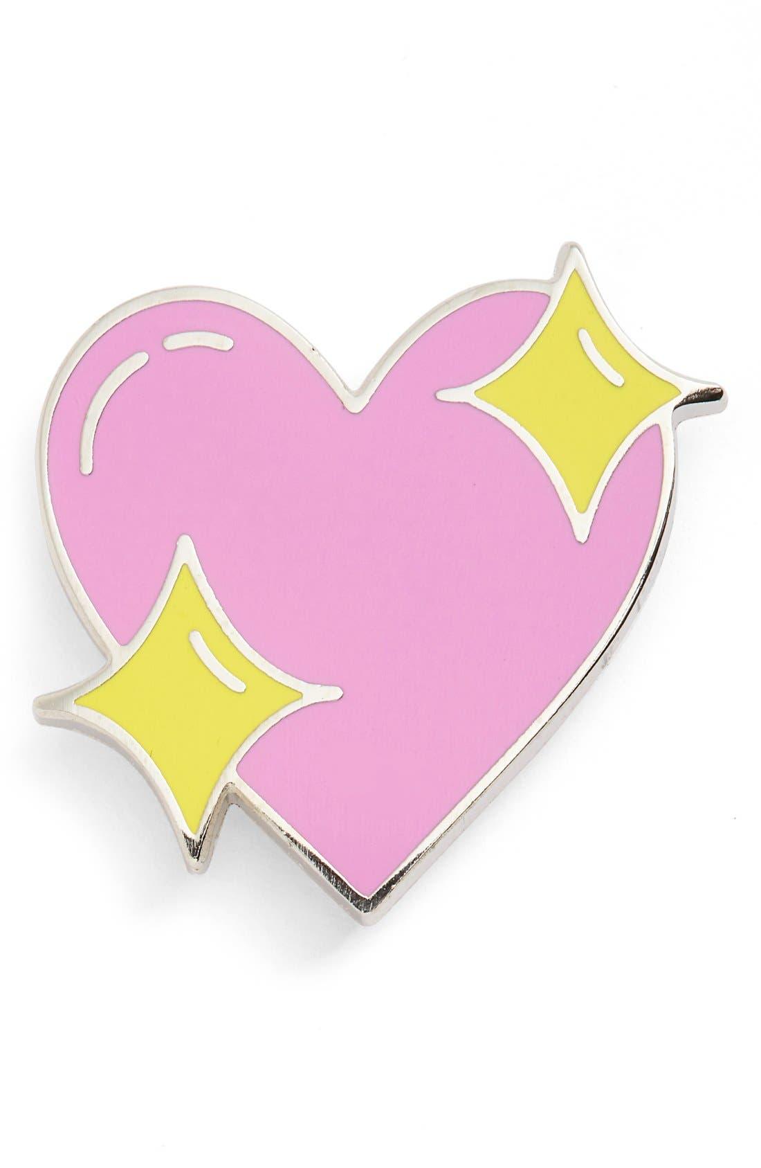 Main Image - Big Bud Press 'Sparkle Heart' Brooch Pin