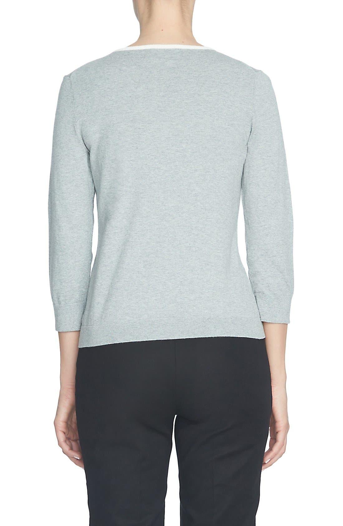 Alternate Image 3  - CeCe Intarsia Collar Sweater