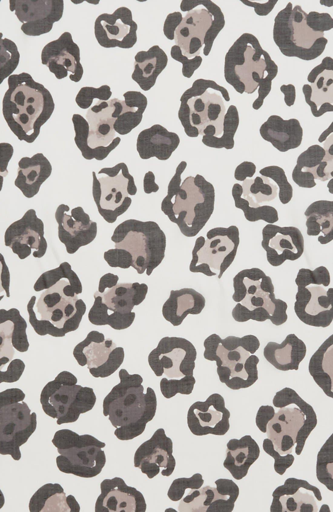 Alternate Image 3  - Vince Camuto Leopard Print Silk Scarf