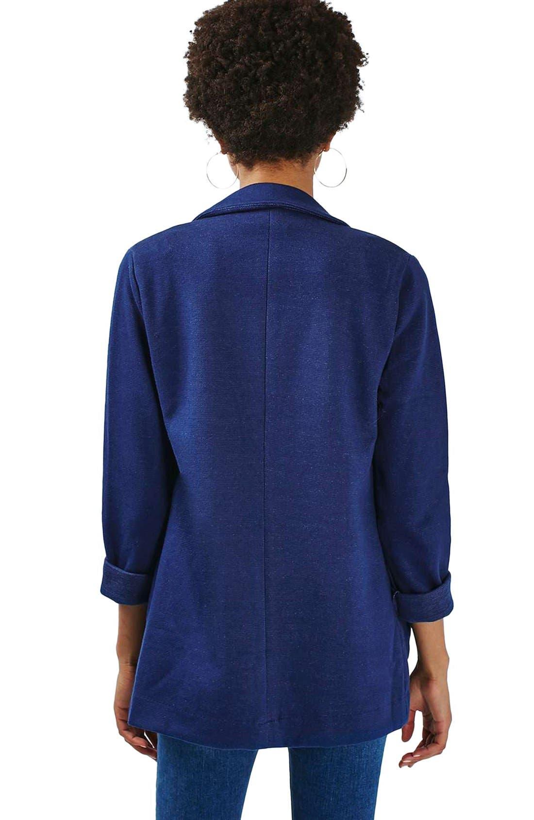 Alternate Image 3  - Topshop Denim Jersey Boyfriend Blazer