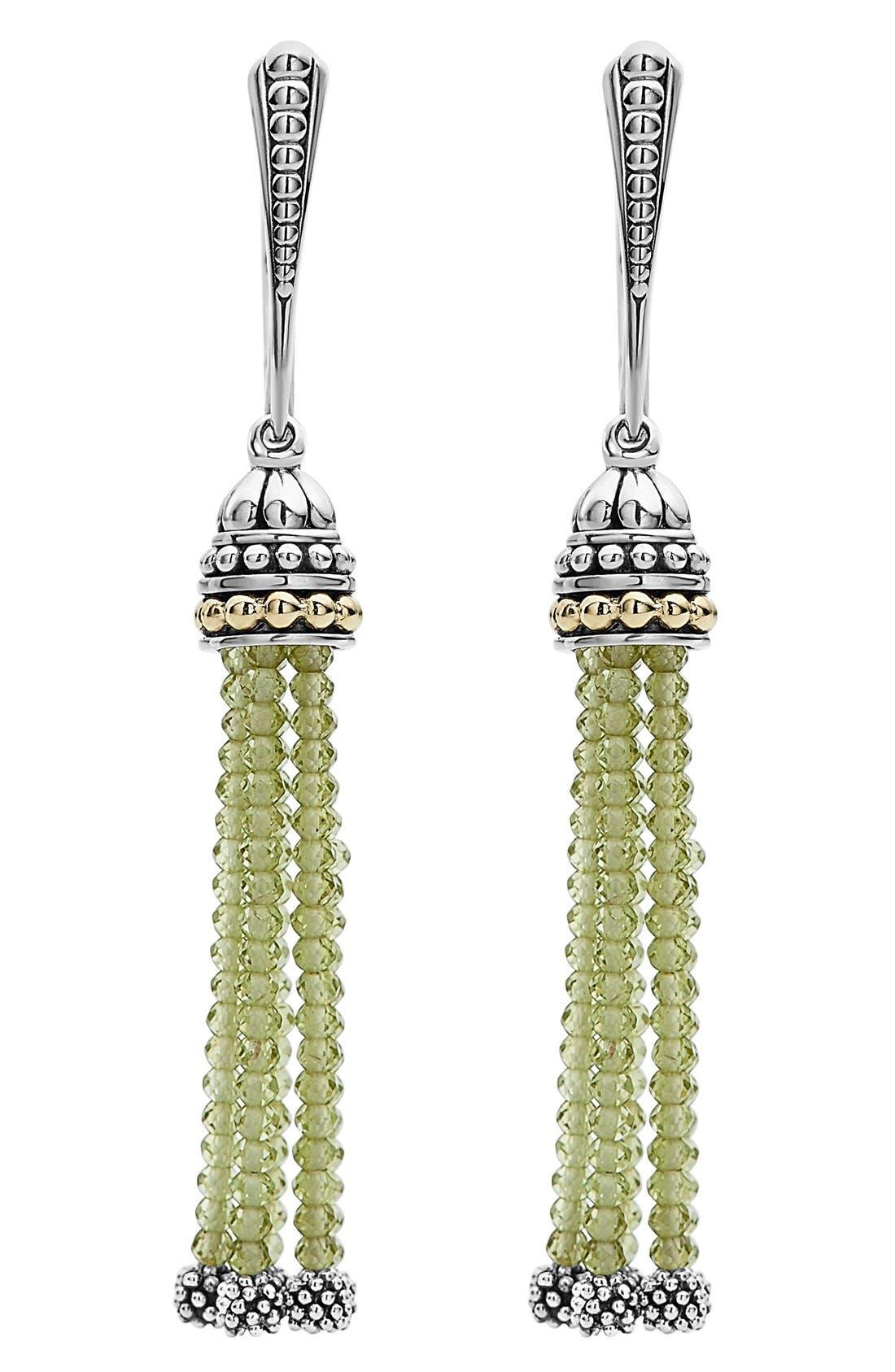 LAGOS Caviar Icon Tassel Drop Earrings