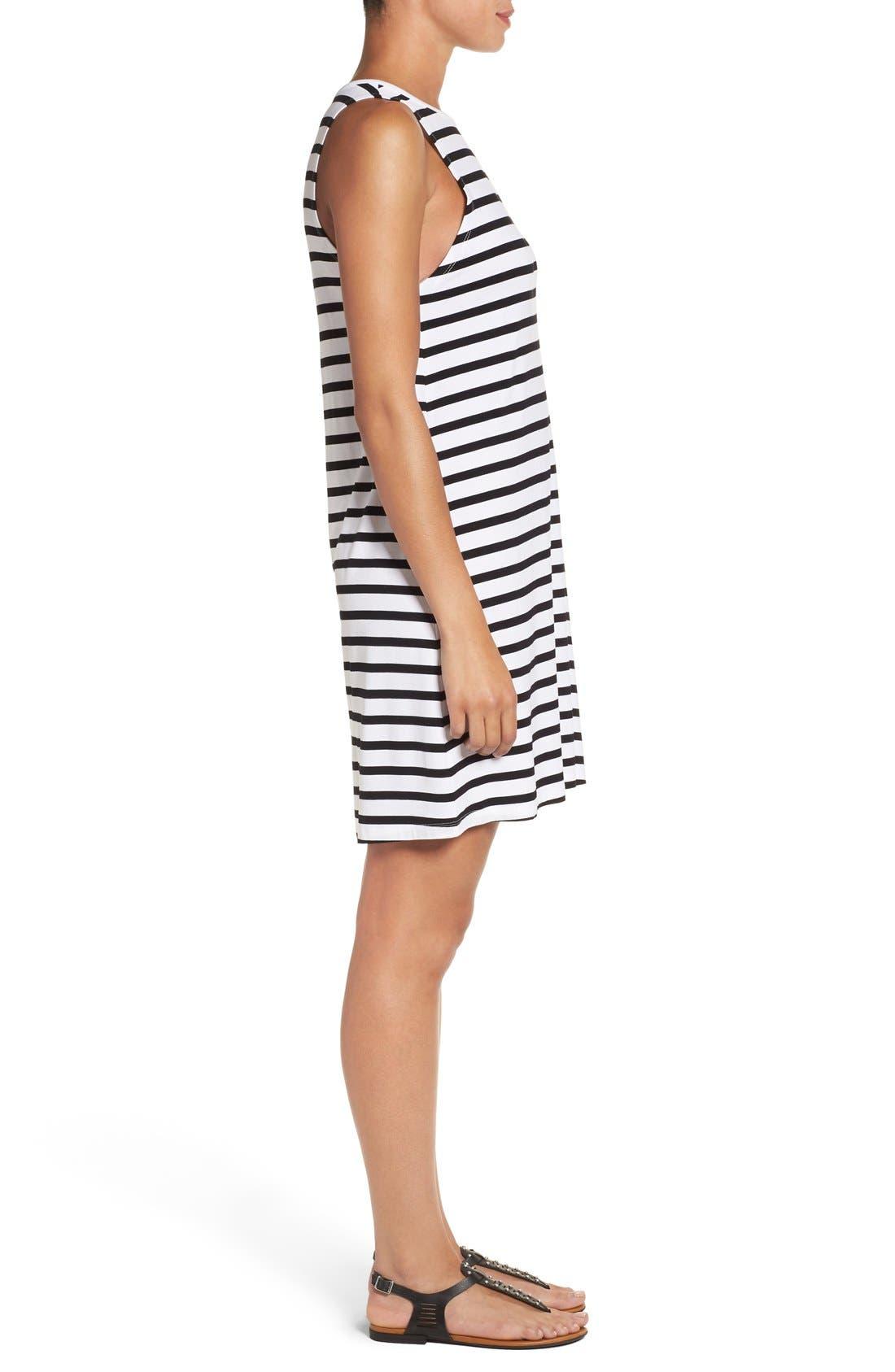 Alternate Image 3  - Press Stripe Sleeveless A-Line Dress