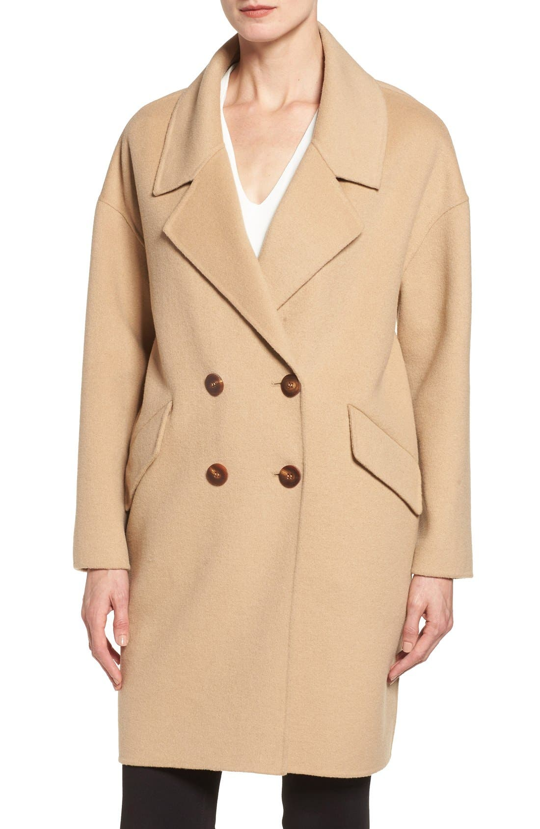Alternate Image 4  - Diane von Furstenberg Double Face Double Breasted Walking Coat