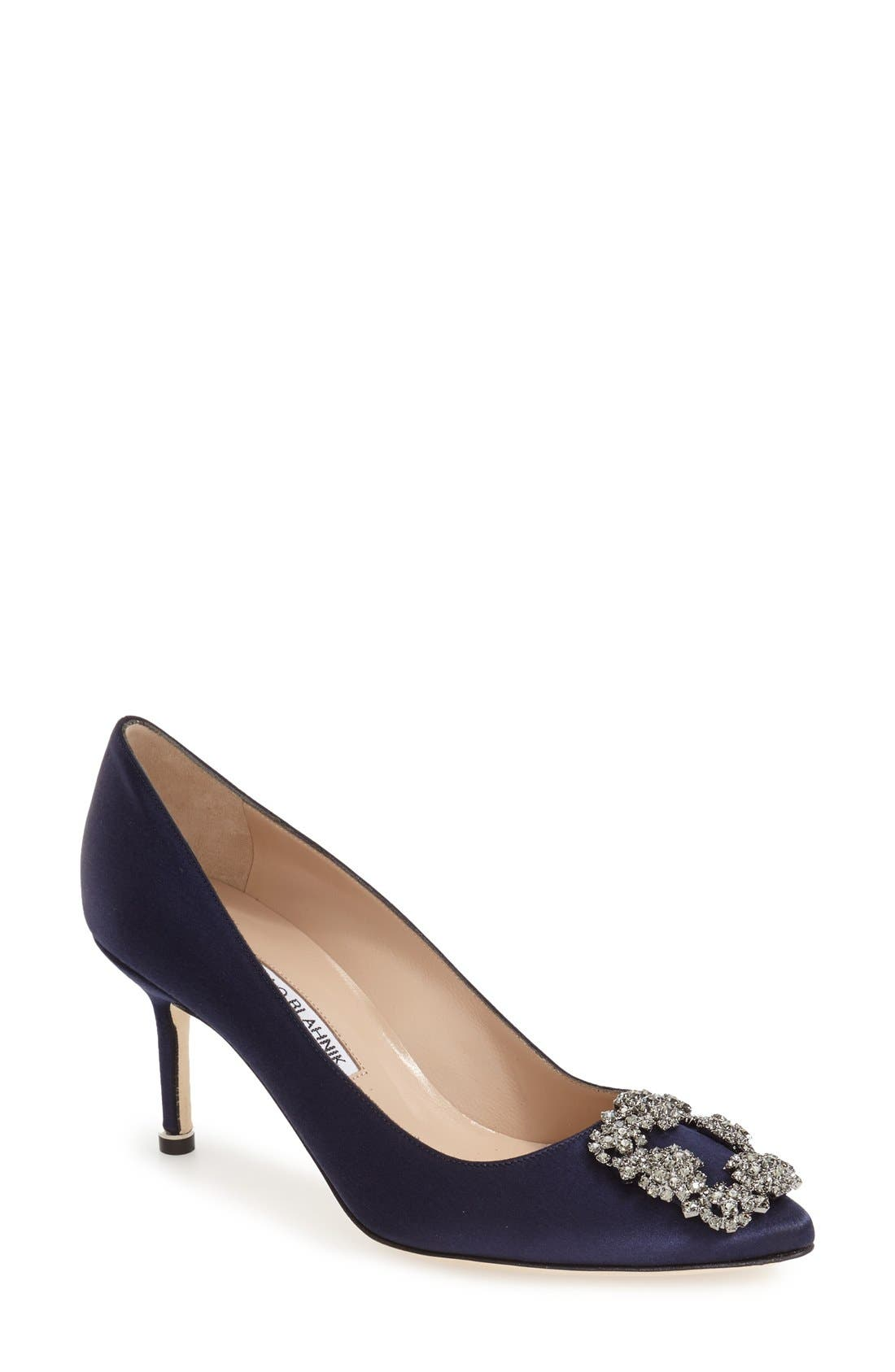 Manolo Blahnik 'Hangisi' Pointy Toe Pump (Women)
