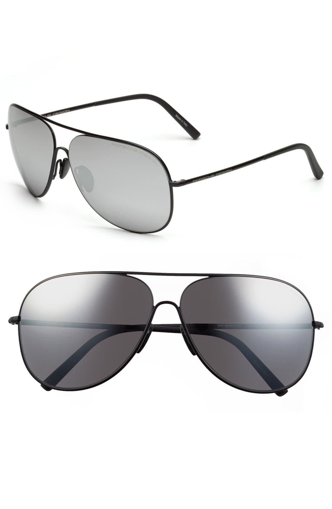 PORSCHE DESIGN 'P8605' 64mm Aviator Sunglasses