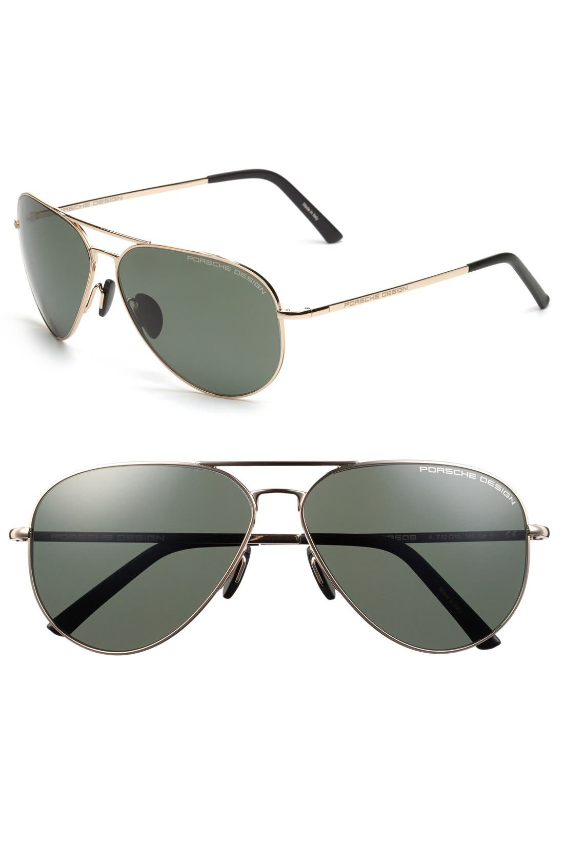 PORSCHE DESIGN 'P8508' 62mm Polarized Aviator Sunglasses