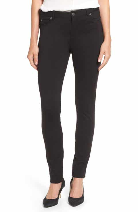 Two by Vince Camuto Skinny Ponte Pants (Regular   Petite)