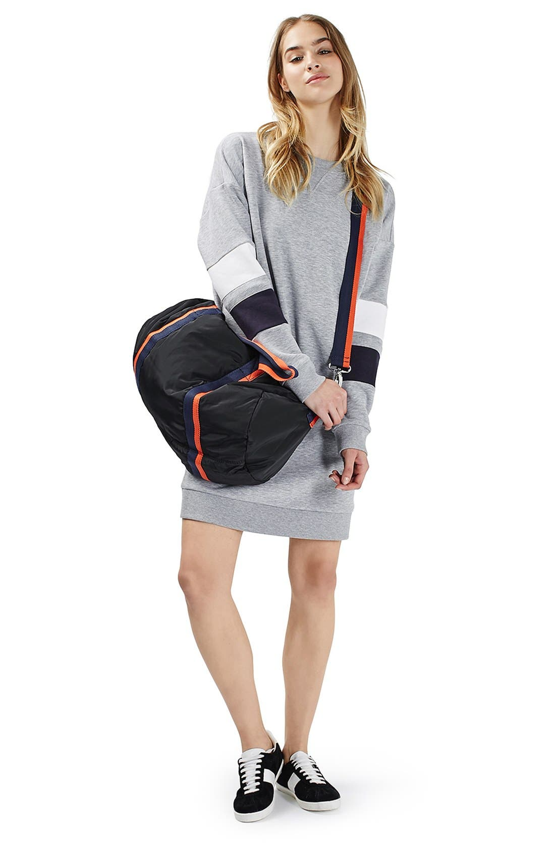 Alternate Image 2  - Topshop Colorblock Sweatshirt Dress