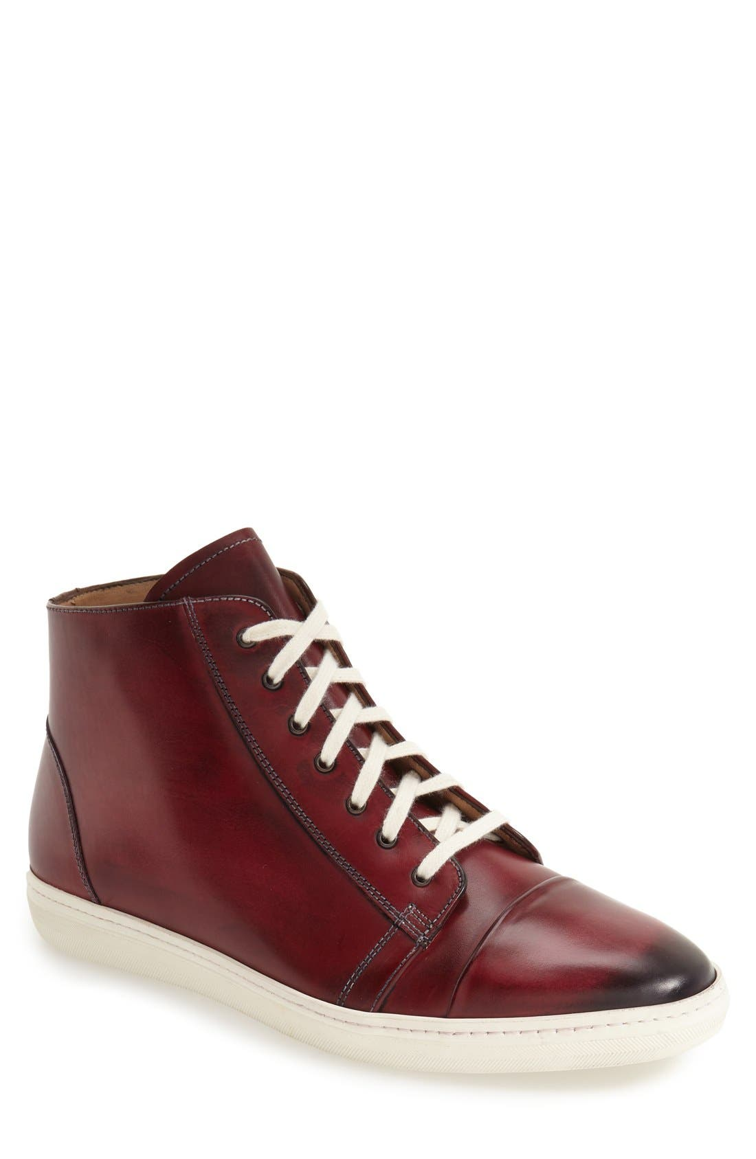 Mezlan 'Marsala' High Top Sneaker (Men)