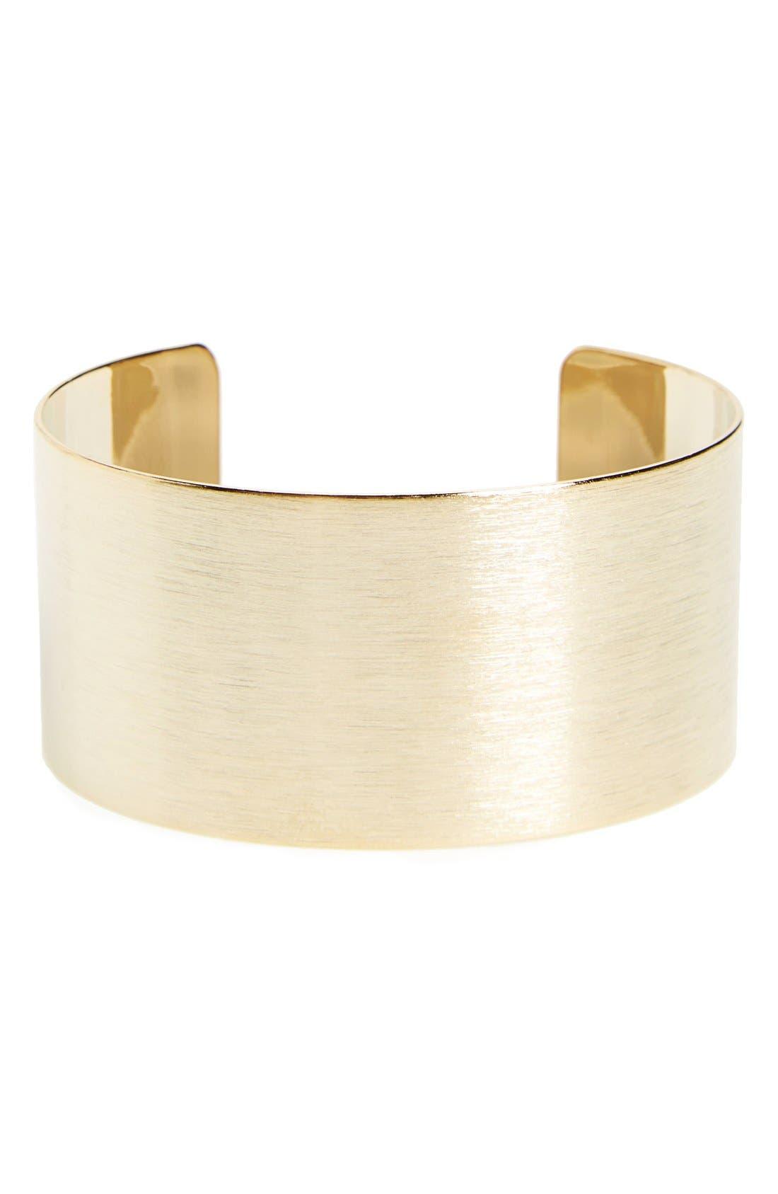 Alternate Image 1 Selected - Panacea Brushed Cuff Bracelet