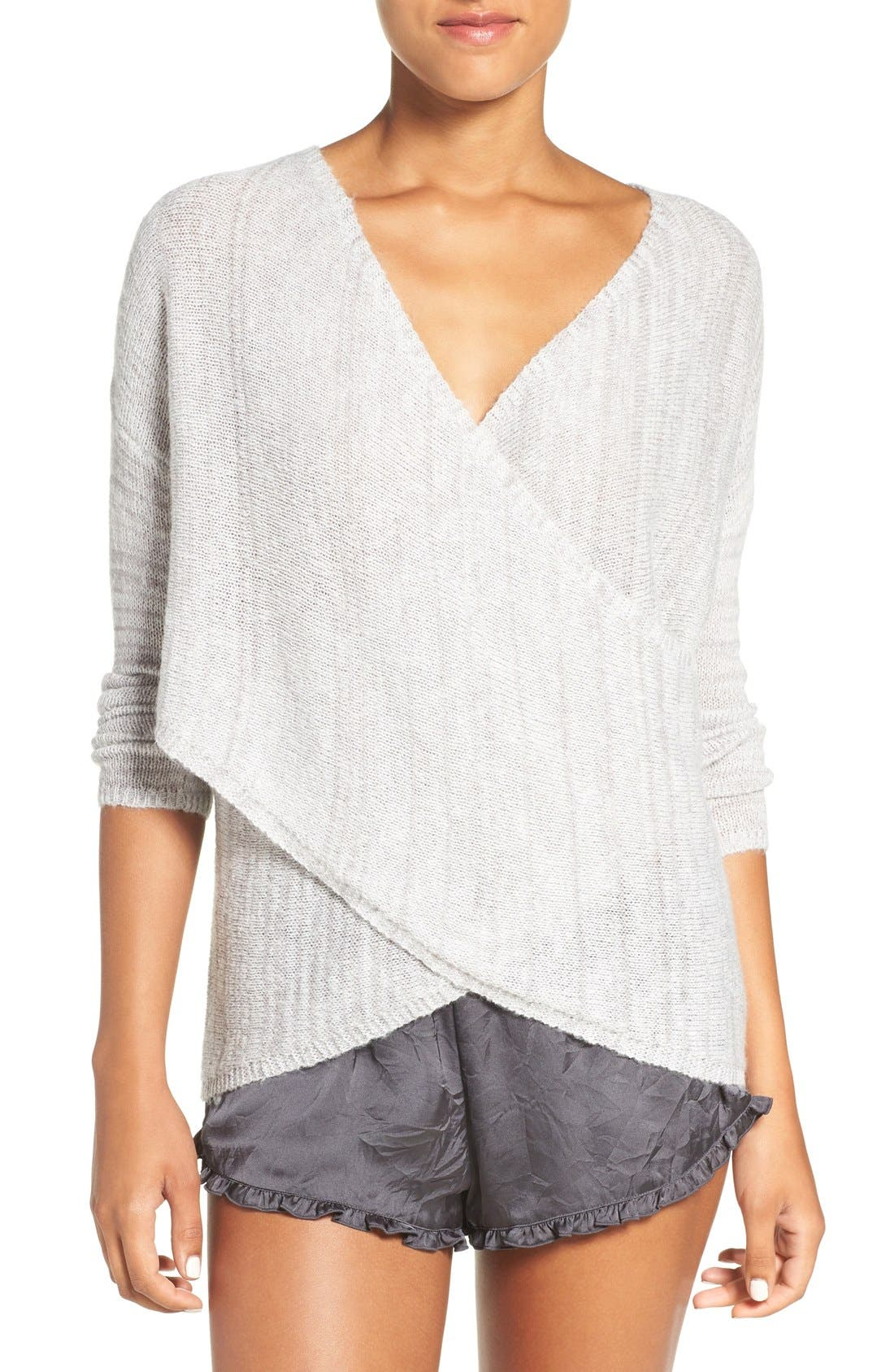 Alternate Image 1 Selected - Chelsea28 Cross Front Sweater