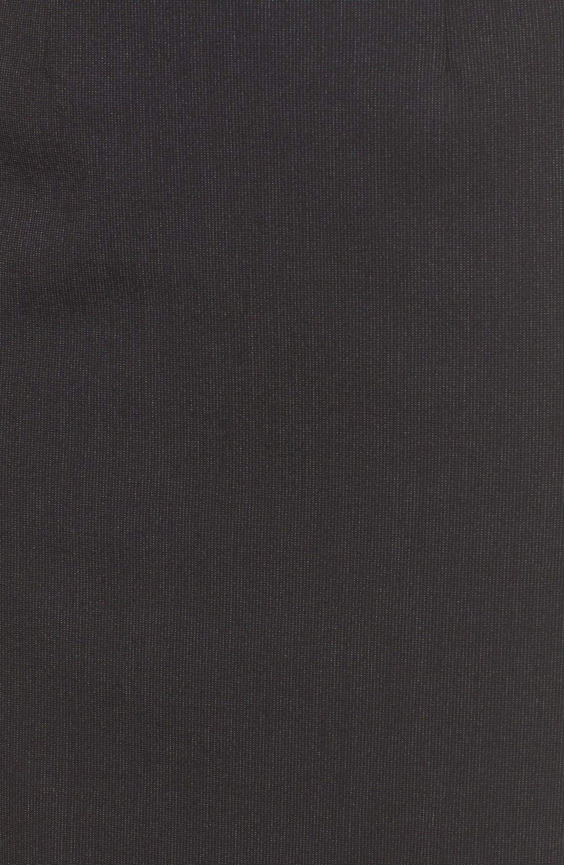 Alternate Image 5  - Halogen® Mini Stripe Stretch Suit Skirt (Regular & Petite)