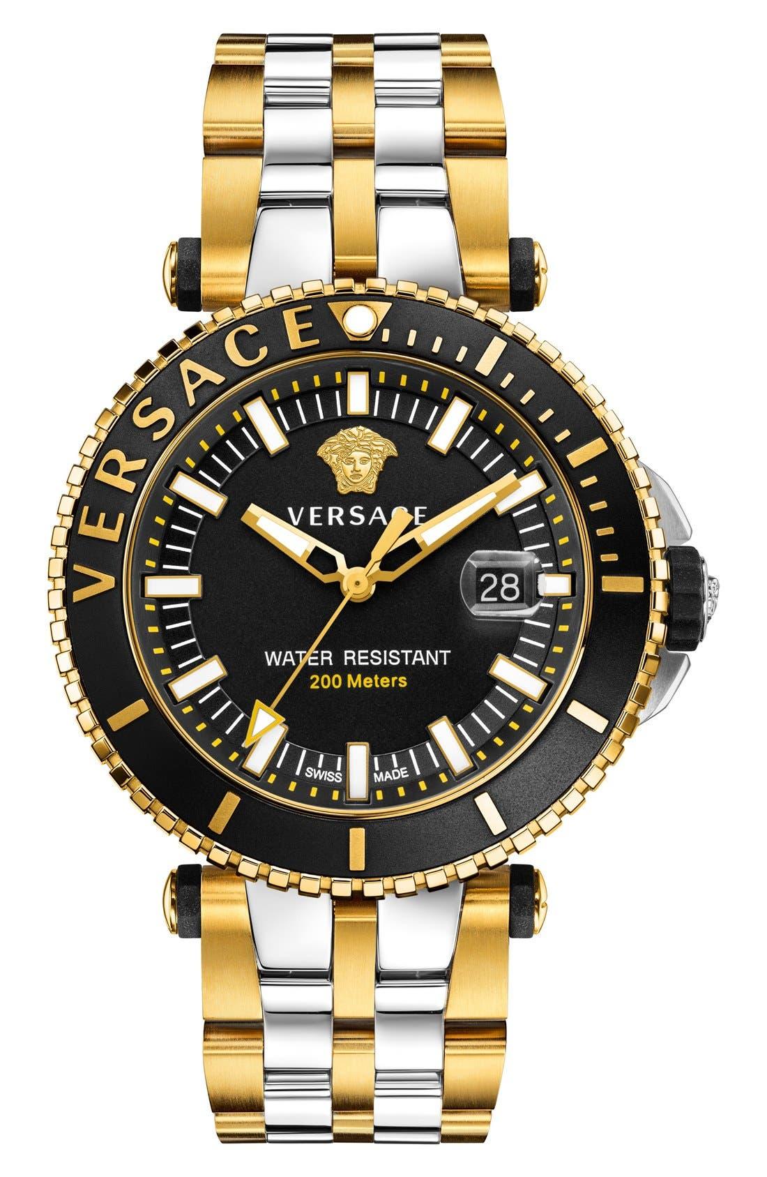 Main Image - Versace 'Diver' Bracelet Watch, 46mm