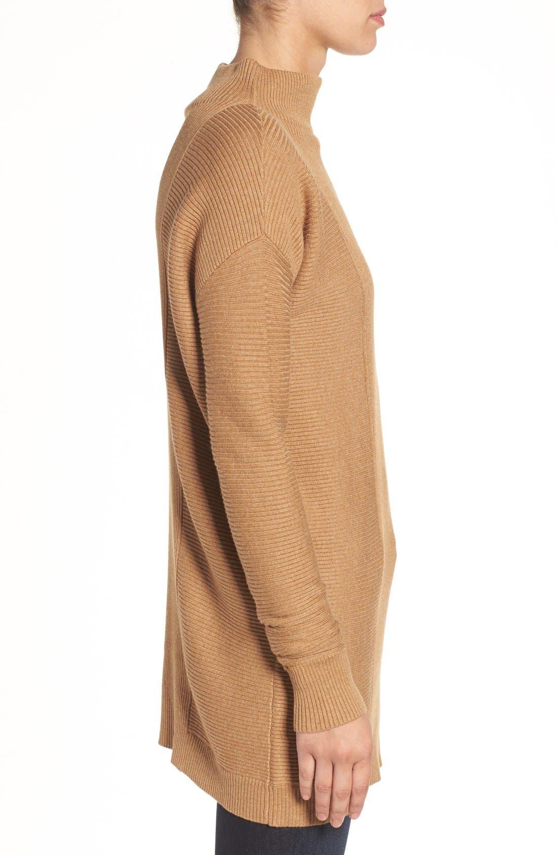 Alternate Image 3  - Halogen® Rib Knit Funnel Neck Tunic