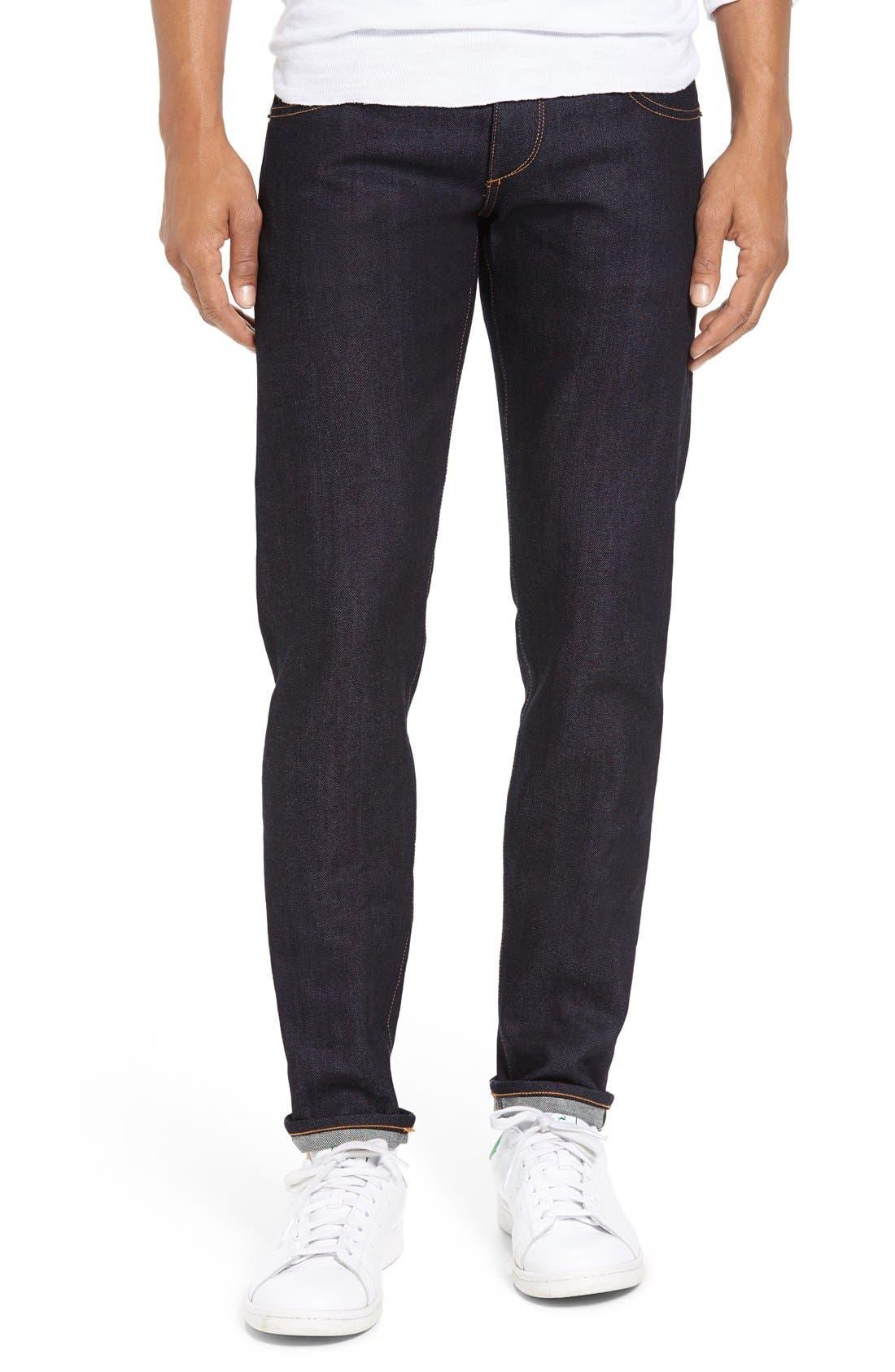 rag & bone 'Fit 1' Skinny Fit Selvedge Jeans (Raw)
