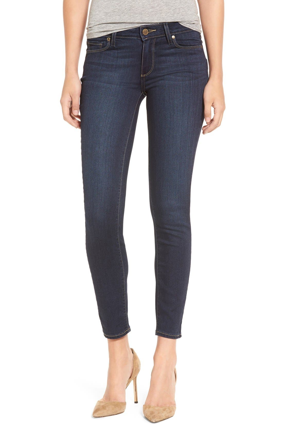 Alternate Image 1 Selected - PAIGE 'Transcend - Verdugo' Ankle Ultra Skinny Jeans (Hartmann) (Nordstrom Exclusive)