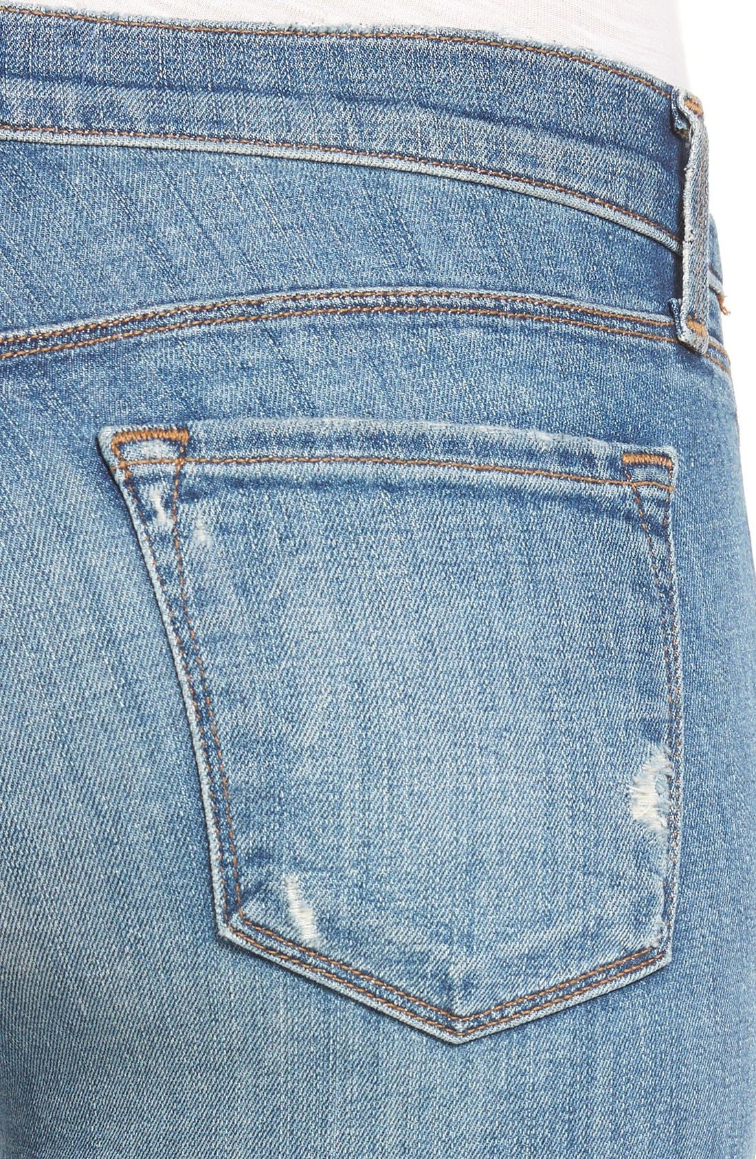 Alternate Image 4  - J Brand Ripped Crop Skinny Jeans (Mischief)