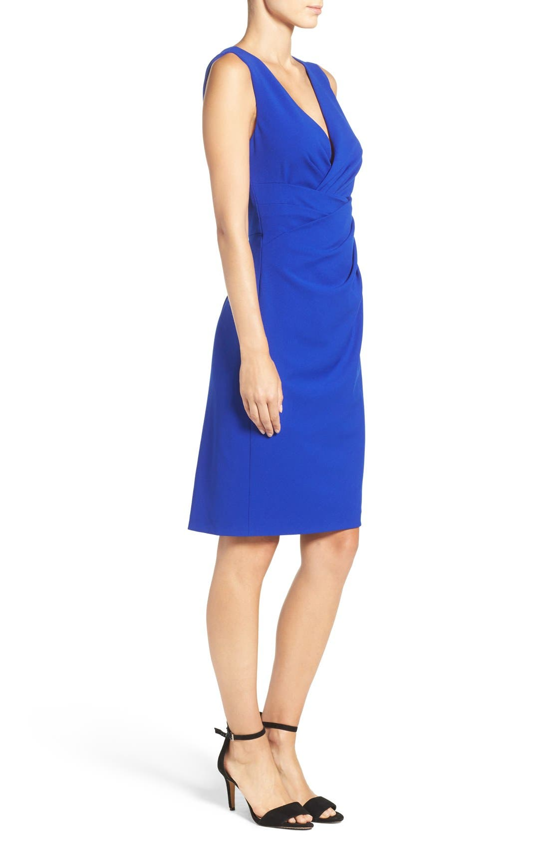 Alternate Image 3  - Betsey Johnson Gathered Crepe Sheath Dress