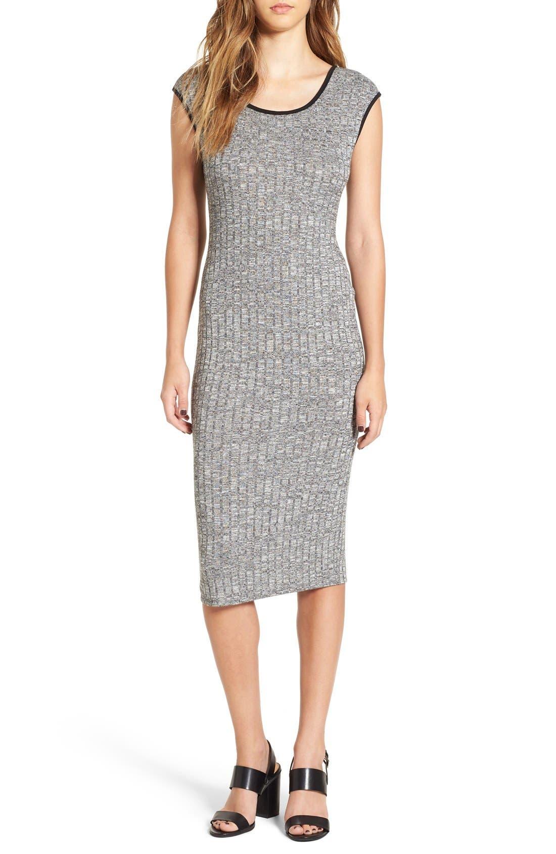 Alternate Image 1 Selected - Love Squared Rib Knit Midi Dress