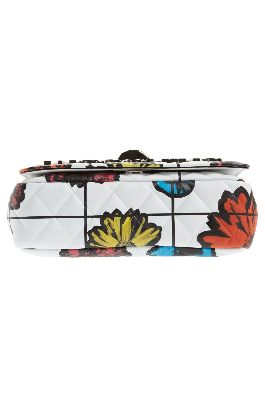 Alternate Image 6  - Moschino 'Small Letters' Floral Quilted Shoulder Bag