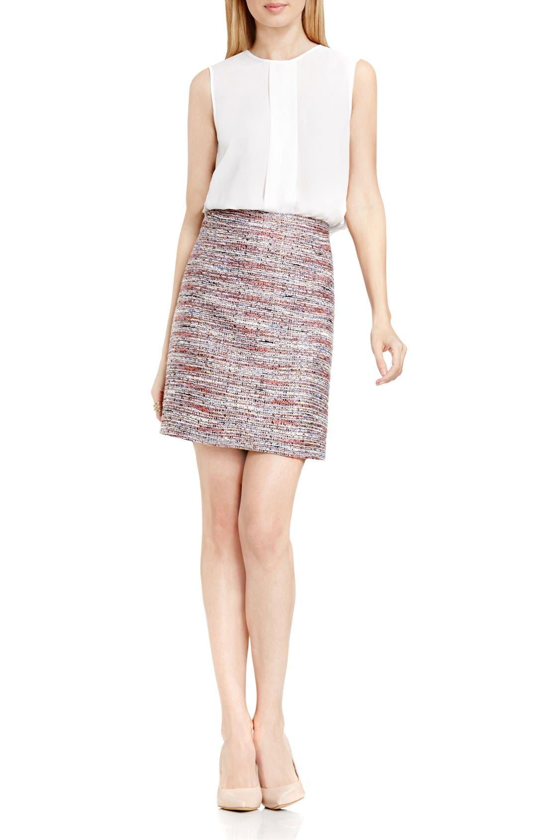 Alternate Image 2  - Vince Camuto Tweed Pencil Skirt (Regular & Petite)