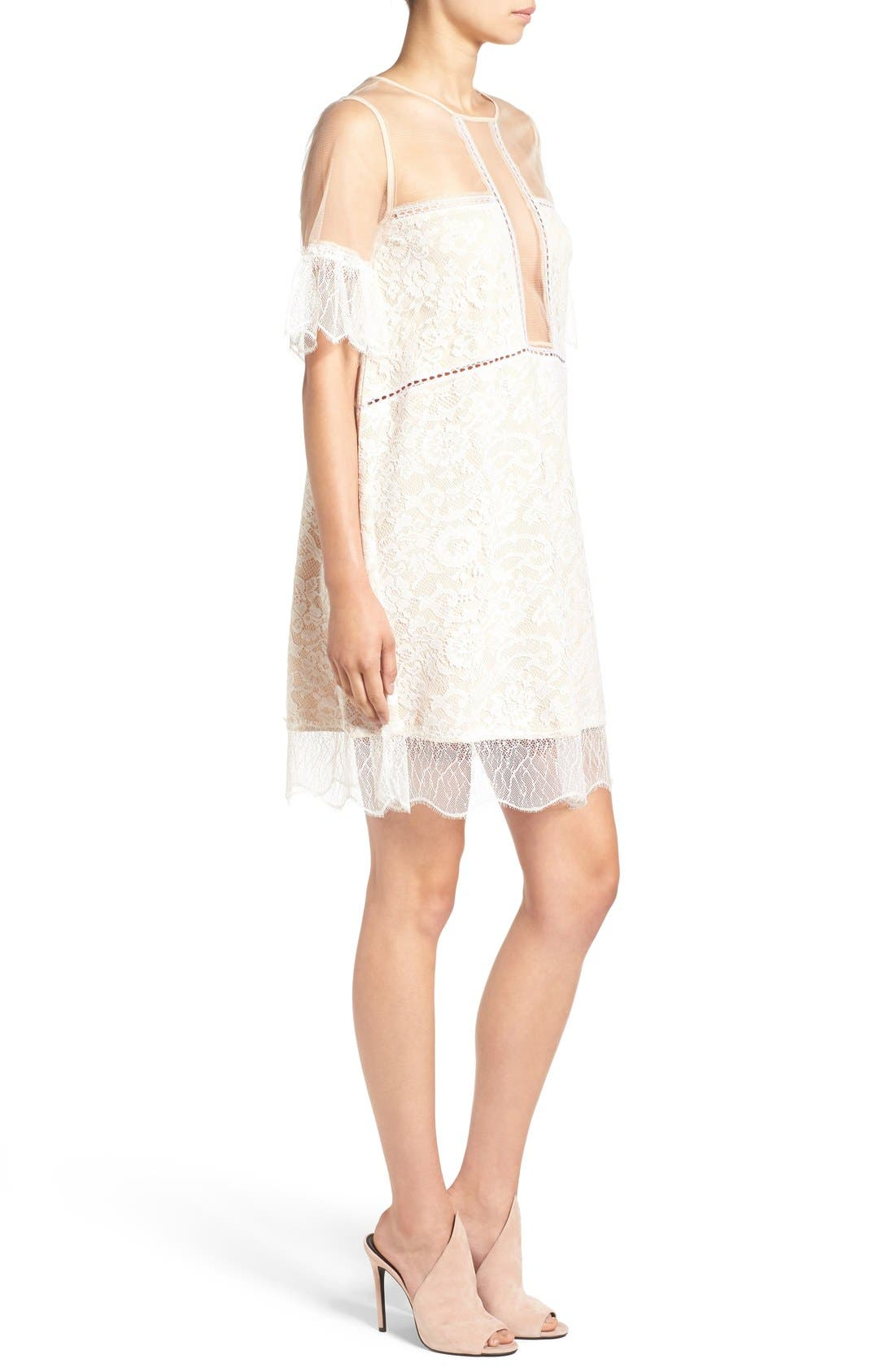 Alternate Image 3  - KENDALL + KYLIE Lace Panel Trapeze Dress