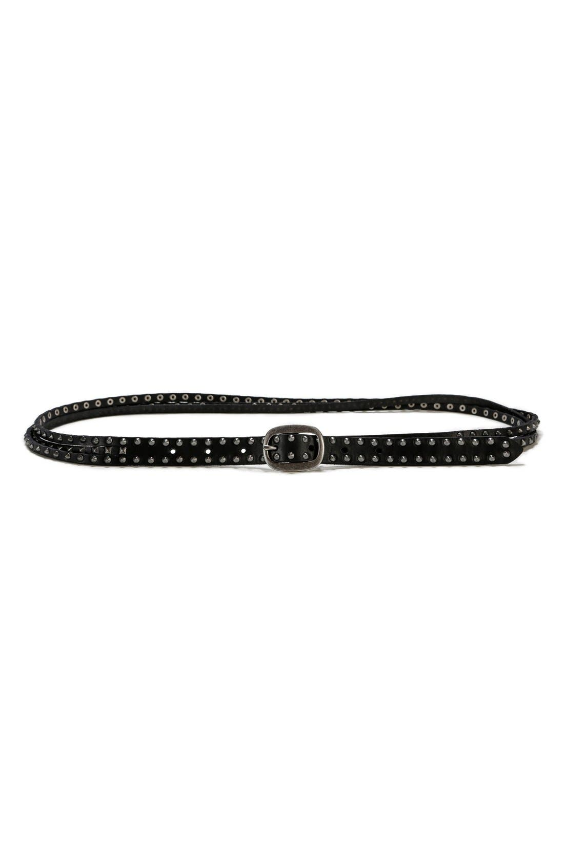 PAIGE 'Avery' Studded Multistrand Leather Belt