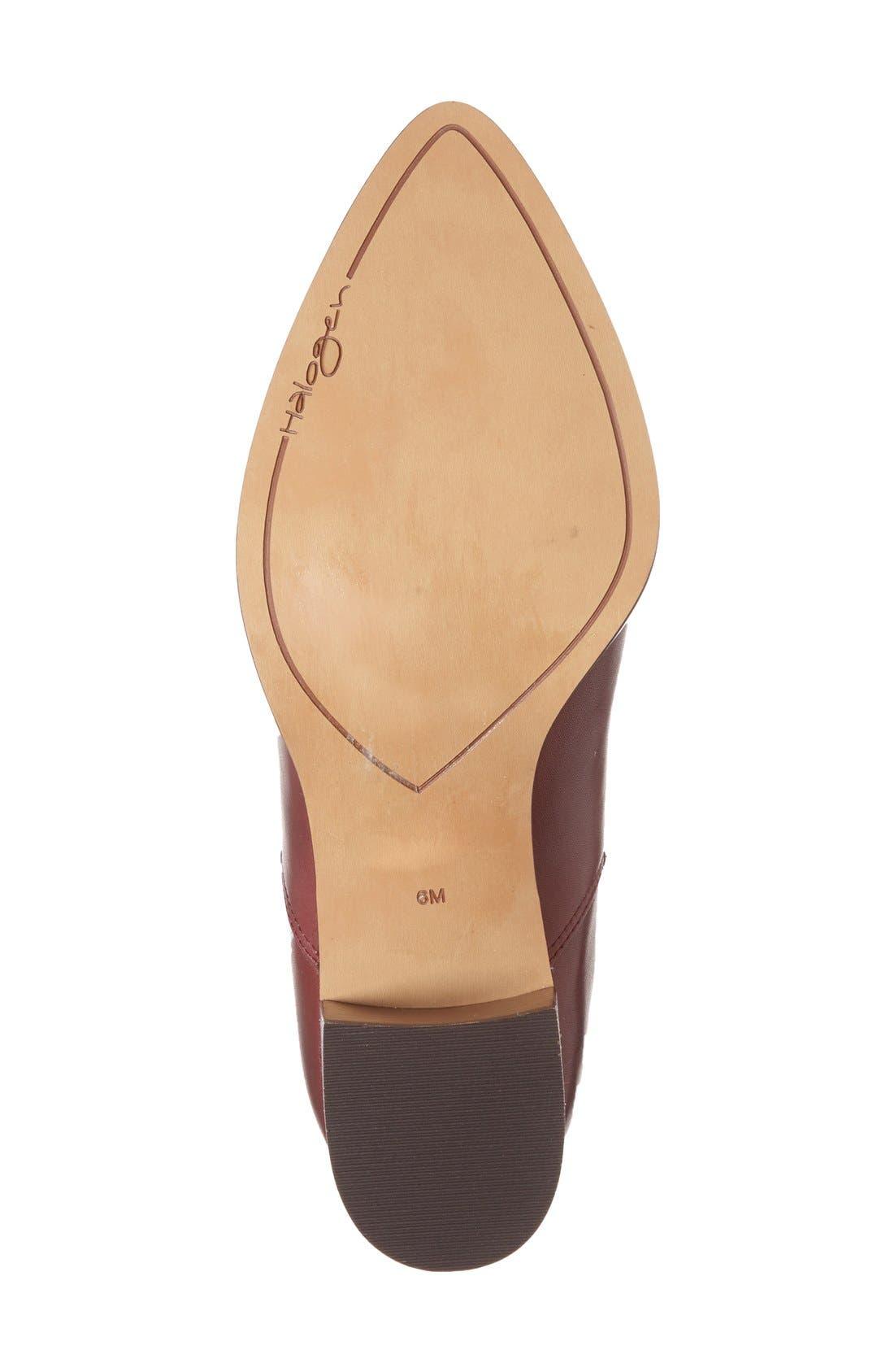 Alternate Image 4  - Halogen® 'Bailey' Pointy Toe Block Heel Bootie (Women)