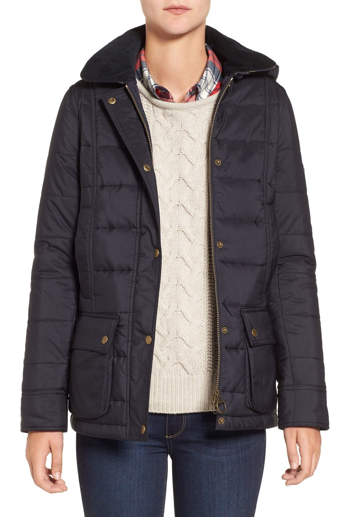 Main Image - Barbour 'Ilkley' Water Resistant Quilted Jacket
