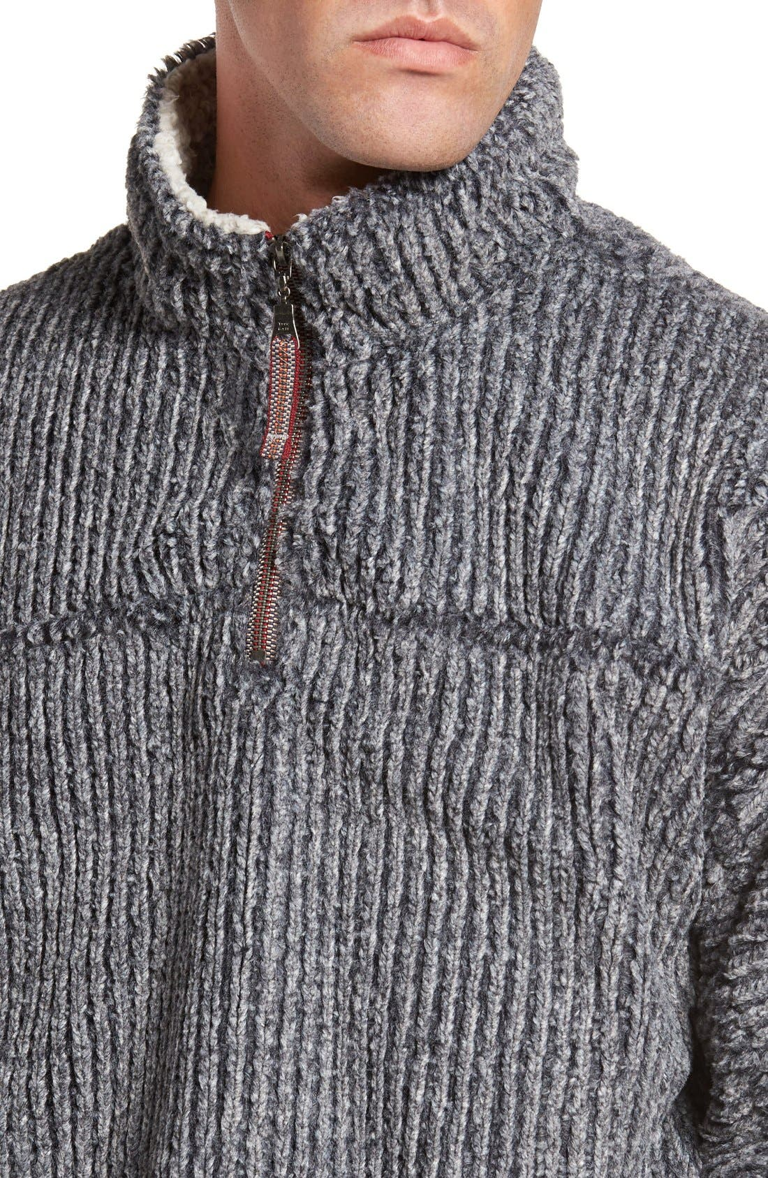 Alternate Image 4  - True Grit Frosty Cord Pile Quarter Zip Pullover