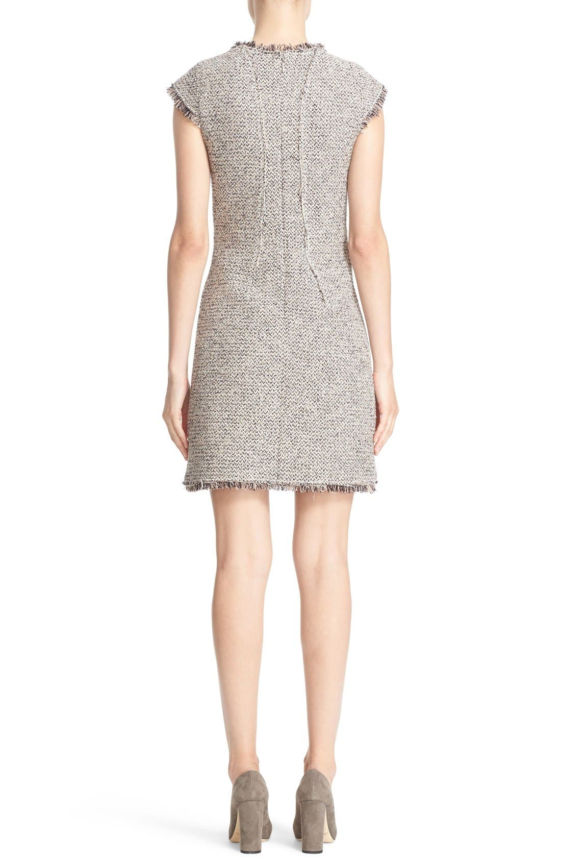 Alternate Image 2  - Rebecca Taylor Structured Tweed Sheath Dress