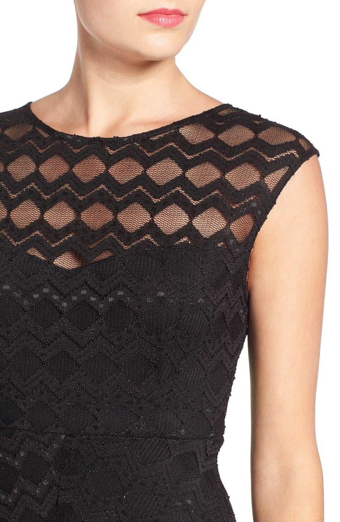 Alternate Image 4  - Jump Apparel Diamond Lace Body-Con Dress