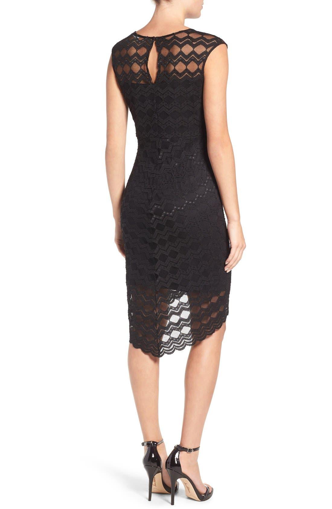 Alternate Image 2  - Jump Apparel Diamond Lace Body-Con Dress