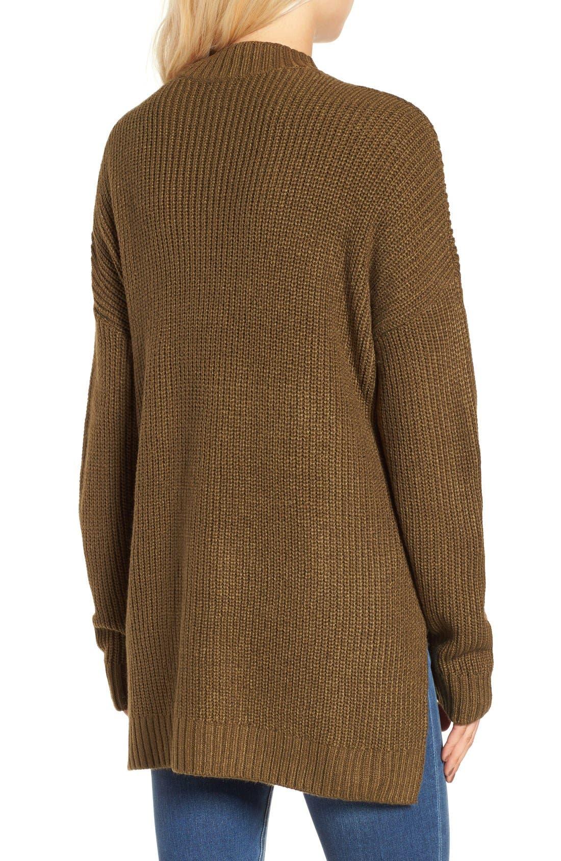 Alternate Image 2  - BP. Mock Neck Shaker Stitch Pullover