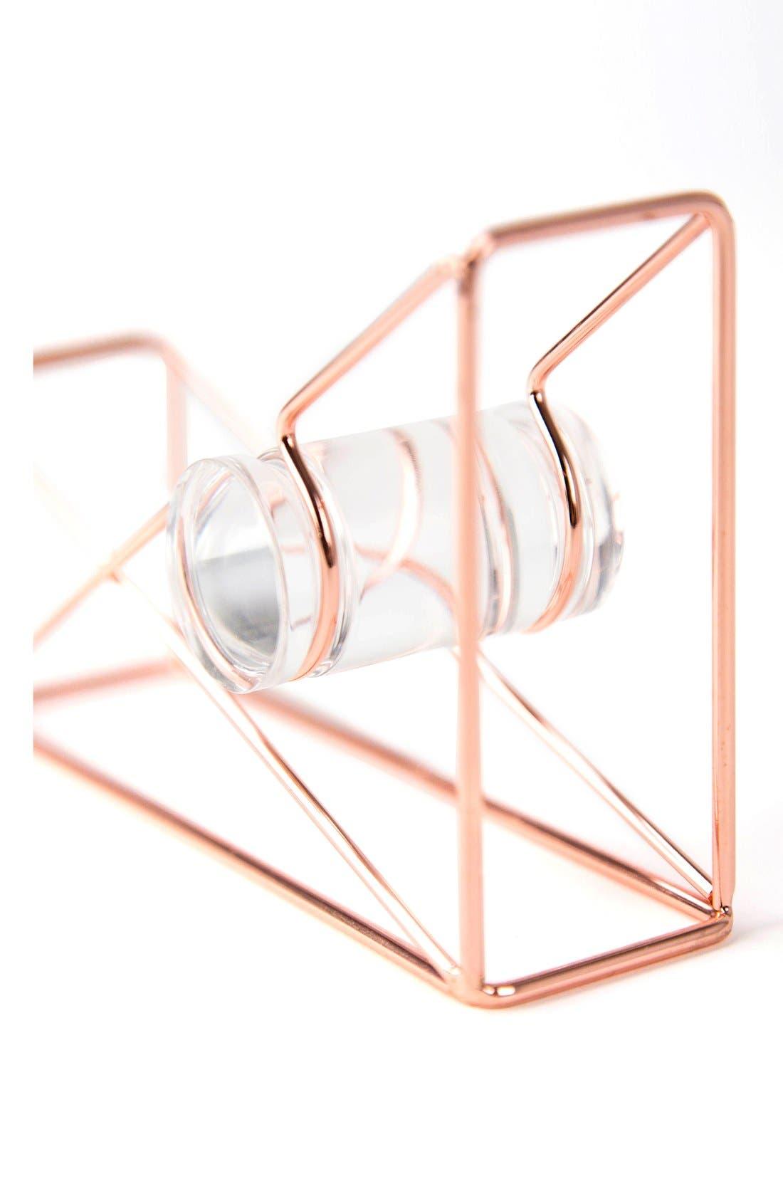 Alternate Image 2  - U Brands Rose Goldtone Tape Dispenser