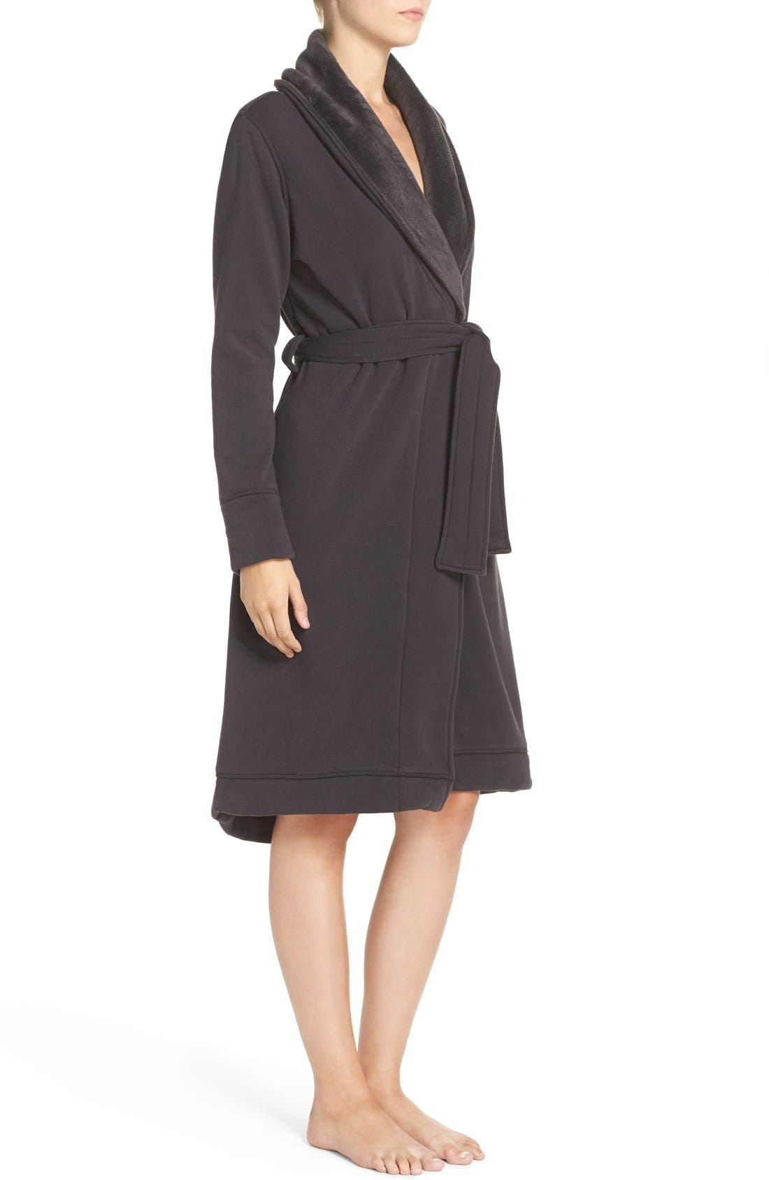 Alternate Image 2  - UGG® Duffield Double Knit Robe