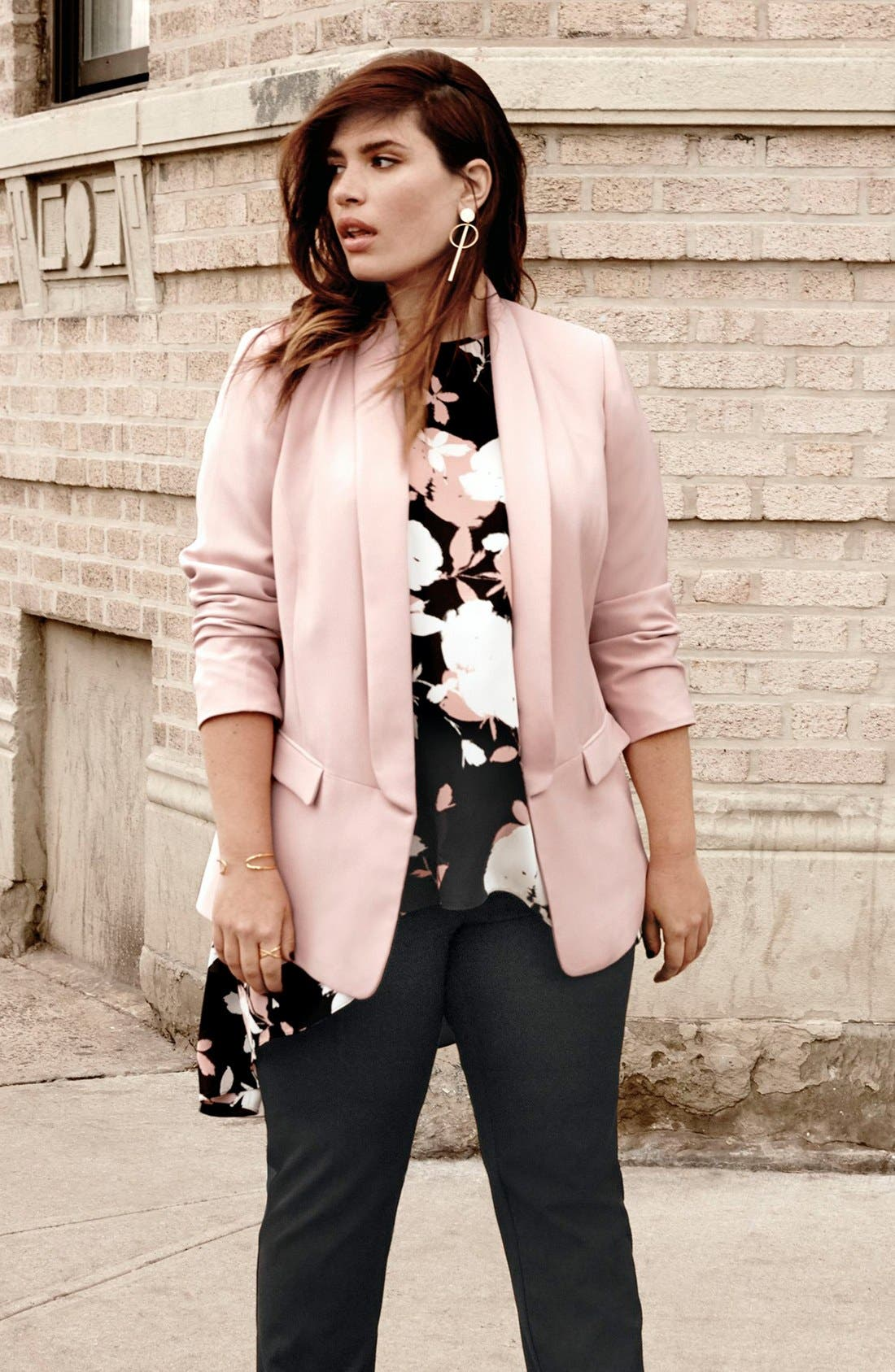 Vince Camuto Blazer, Blouse & Pants Outfit with Accessories (Plus Size)